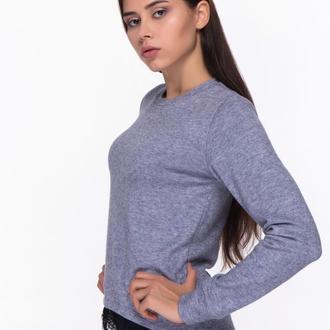 Ангоровый свитер с кружевом