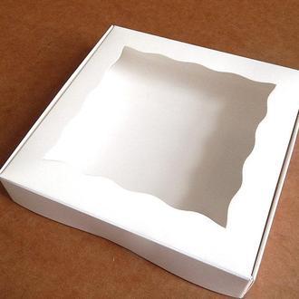 Коробка для текстиля 15.5х15.5х3 см белая