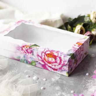 Коробка для текстиля Пионы 14х25х6 см