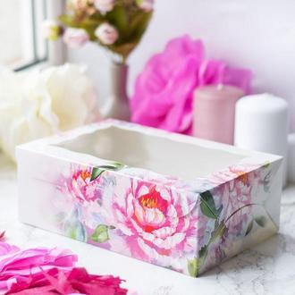 Коробка для изделий handmade Пионы / упаковка 10 шт