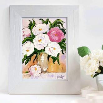 Картины маслом Цветы розы в живописи Натюрморт с цветами