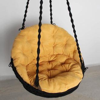 Подвесное кресло макраме качеля гамак