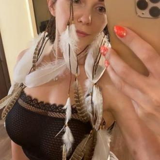 Бохо повязка с перьями. Красивая повязка в бохо стиле