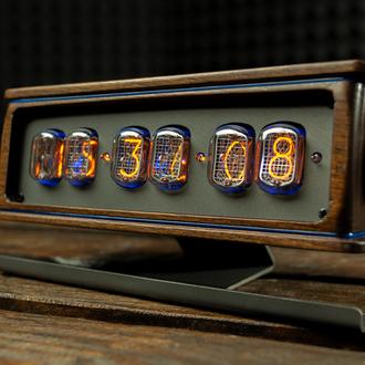 NIXIE CLOCK. Ламповые часы ИН-12.Лофтовые часы на газоразрадный лампах