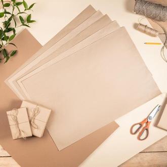 Крафт папір коричневий в листах 60х84 см