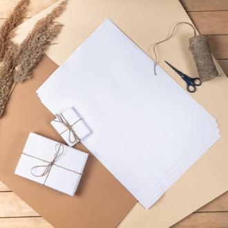 Крафт папір білий в листах 60х84 см