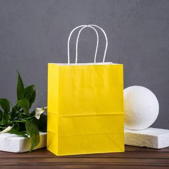 Крафт пакет жовтий 180*100*220 мм, папір 100 г/м2