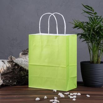 Крафт пакет салатовий 180*100*220 мм, папір 100 г/м2