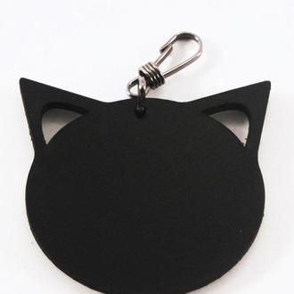 Кожаный брелок Кошка от мастерской Wild
