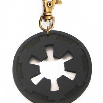 Кожаный брелок емблема Империи Star Wars от мастерской Wild