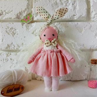 Маленькая куколка Текстильная кукла в розовом