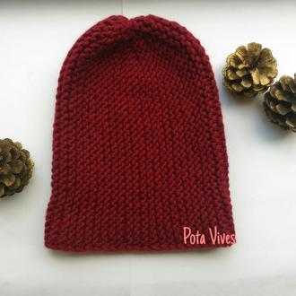 Модная и теплая шапка бини