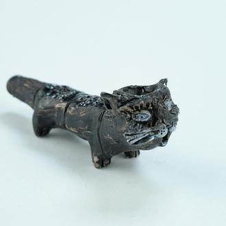 Трубка для курения в виде кота чёрного