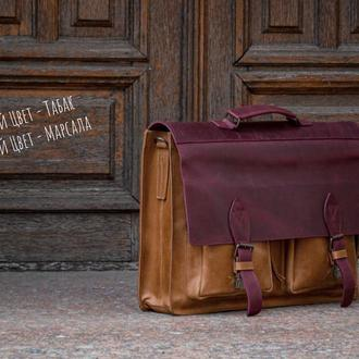 Деловой портфель для документов, Кожаная сумка для ноутбука