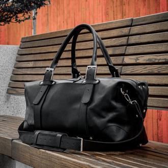 Кожаная спортивная сумка, Мужская дорожная сумка