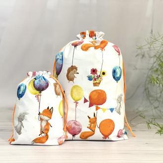 Подарочный мешочек, Эко мешочек, Мешочек из ткани, Торбочка, Мешочек для подарков