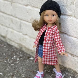 Модная рубашка для куклы Паола Рейна 32 см, Одежда для  Paola Reina