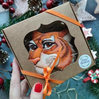 Пряник тигр купить, пряники на новый год, пряники на 2022, заказать