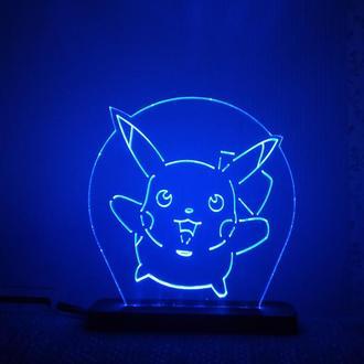 Светильник  Pikachu Пикачу аниме