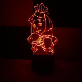 Симка (фиксики), ночник, светильник, LED лампа, игрушка, подарок ребенку, девочке, декор детской