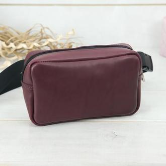 """Женская кожаная сумка """"модель №58"""" кожа итальянский краст, цвет бордо"""