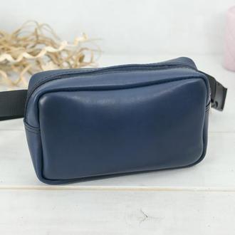 """Женская кожаная сумка """"модель №58"""" кожа итальянский краст, цвет синий"""