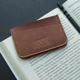 Кожаный кошелёк картхолдер (Виски)  Junior
