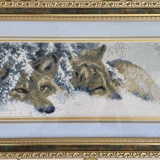 Вышивка «Волки»