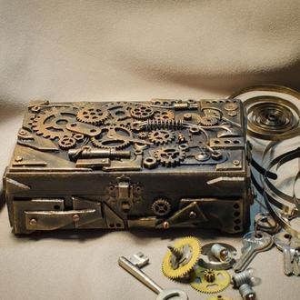 Купюрница в стиле стимпанк Бронзовый механизм
