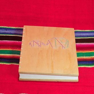 Блокнот с деревянной обложкой формата А5