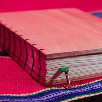 Блокнот ручной работы с деревянной обложкой формата А5