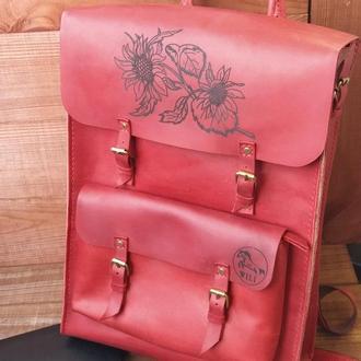 Женский рюкзак из натуральной кожи «DE LUXE»
