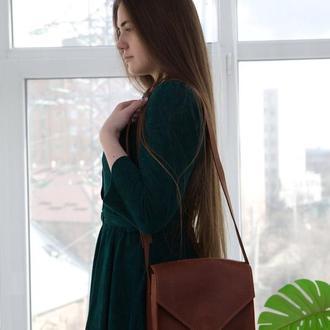 Стильная и универсальная женская сумка через плечо ручной работы из натуральной кожи