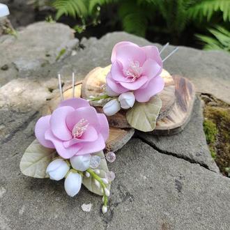 Шпильки для волосся з квітами