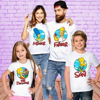 Футболки Push IT для всей семьи _Симпсоны_ ФП001193