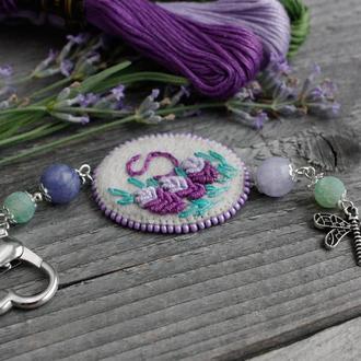 Маячок для ножниц с камнями и монограммой Подвеска для сумки брелка Подарок рукодельнице