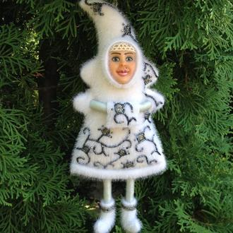 """Ёлочная, новогодняя, интерьерная кукла """"Зимняя фея"""""""