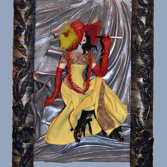 Lady in yellow. Серія картин: Ladies