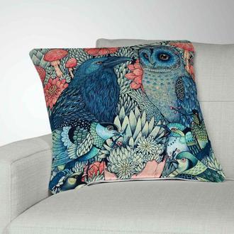 Интерьерная подушка для дивана Ворн и Сова. Подушка для дивана. Декоративная подушка