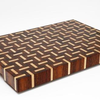 Торцевая разделочная доска, экзотическая древесина, эксклюзив