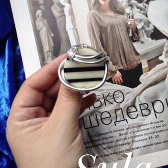 Авторское кольцо с искусственным камнем
