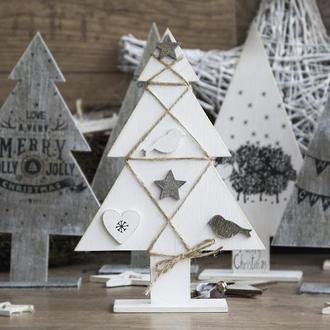 Новогодняя игрушка Vintage Xmas tree (white) art 0198