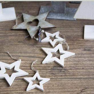 Новогодняя игрушка (комплект) Magic star(white) art 0194