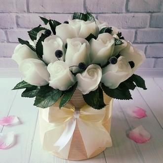 Лучший подарок, букет цветов, свадебный красивый букет, белый букет