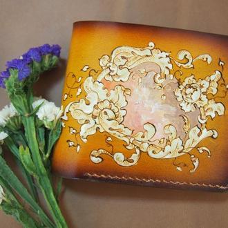 Женский  кошелек Орнамент, нежный кошелек, подарок маме