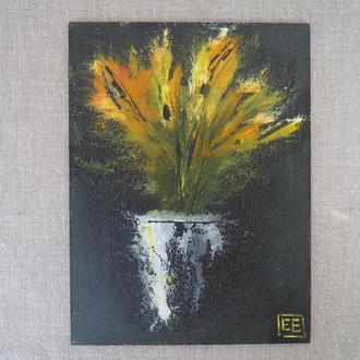 Абстрактный натюрморт маслом 18х24 см