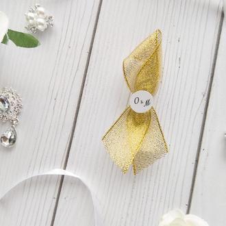 Бутоньерки гостям на свадьбу арт. 0111