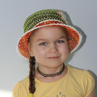 Шляпка для девочки крючком, шляпа, шапочка