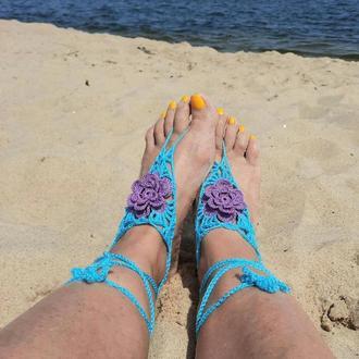 Украшение на стопы  Пляжное украшение на ноги. Браслет- слейв