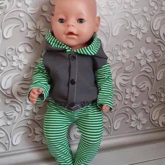 Кофта и штаны для кукол Беби Борн. Мальчик. Набор.